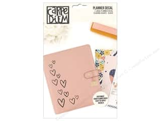 scrapbooking & paper crafts: Simple Stories Collection Carpe Diem Planner Decal Large Hearts Black
