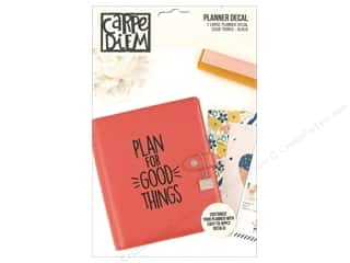 scrapbooking & paper crafts: Simple Stories Collection Carpe Diem Planner Decal Large Good Thing Black