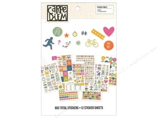 Simple Stories: Simple Stories Collection Carpe Diem Sticker Tablet Fitness