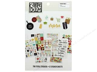 Clearance: Simple Stories Collection Carpe Diem Sticker Tablet Recipe