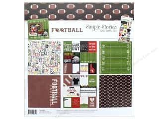 """Simple Stories Collection Football Collection Kit 12""""x 12"""""""