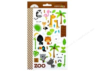 scrapbooking & paper crafts: Doodlebug Collection At The Zoo Sticker Mini Icons (12 sets)