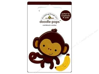 stickers: Doodlebug Collection At The Zoo Doodle Pops Monkey Mike
