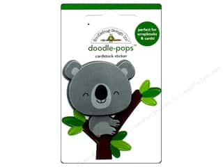 stickers: Doodlebug Collection At The Zoo Doodle Pops KC Koala