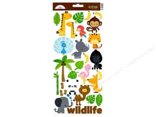 scrapbooking & paper crafts: Doodlebug Collection At The Zoo Sticker Icons (12 pieces)