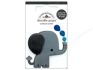 Clearance: Doodlebug Collection At The Zoo Doodle Pops Eddie Elephant