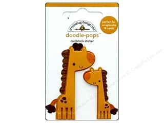 stickers: Doodlebug Collection At The Zoo Doodle Pops Jenny & JoJo Giraffe