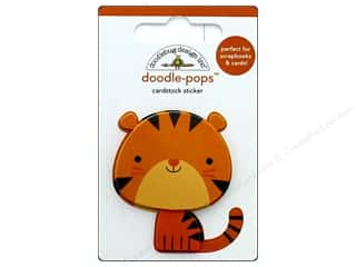stickers: Doodlebug Collection At The Zoo Doodle Pops Tommy Tiger