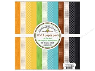 """scrapbooking & paper crafts: Doodlebug Collection At The Zoo Paper Pack 12""""x 12"""" Petite Print"""