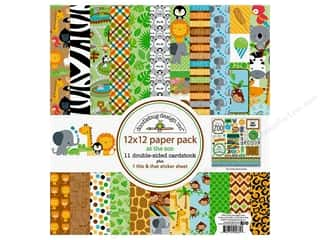scrapbooking & paper crafts: Doodlebug Collection At The Zoo Paper Pack