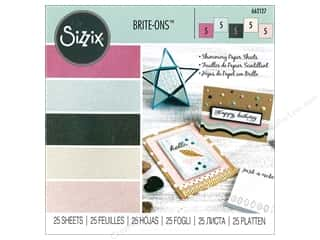"Sizzix Paper Sheets 6""x 6"" Brite Ons Assorted"