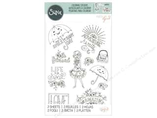 scrapbooking & paper crafts: Sizzix Katelyn Lizardi Coloring Stickers Enjoy Every Day