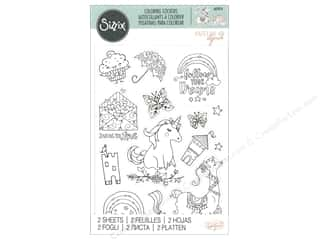 scrapbooking & paper crafts: Sizzix Sticker Katelyn Lizardi Coloring Follow Your Dreams