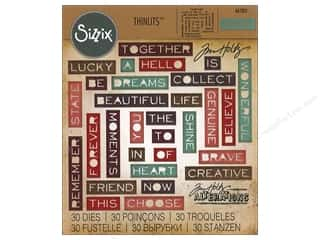 dies: Sizzix Dies Tim Holtz Thinlits Pondering Words