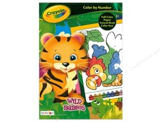 Bendon Color By Number Book Crayola Wild Babies