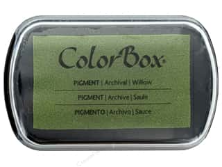 ink pad: Colorbox Full Size Pigment Inkpad Metallic Willow