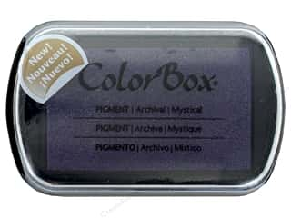 ink pad: Colorbox Full Size Pigment Inkpad Metallic Mystical