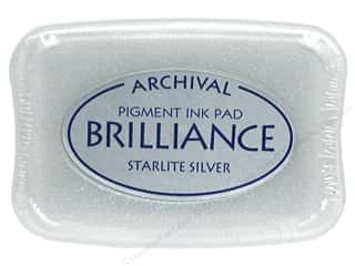 Tsukineko Brilliance Large Stamp Pad Starlite Silver