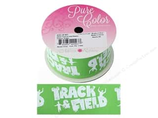 Morex Ribbon Grosgrain Sports Track & Field 1.5 in. x 3 yd Classic Green