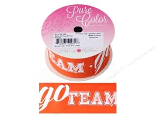 "Morex Ribbon Grosgrain Sports Go Team 1.5""x 3yd Orange"