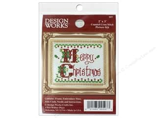 yarn & needlework: Design Works Counted Cross Stitch Kit 2 x 3 in. Merry Christmas