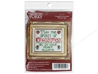 yarn & needlework: Design Works Counted Cross Stitch Kit 2 x 3 in. Spirit Of Christmas