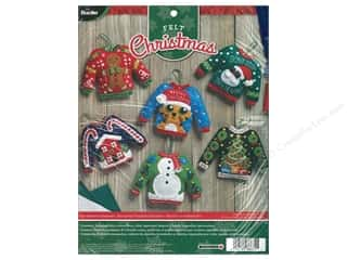 stamps: Bucilla Felt Kit Ornaments Ugly Sweaters