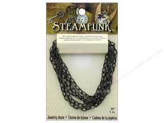beading & jewelry making supplies: Solid Oak Chain Steampunk A Antique Silver