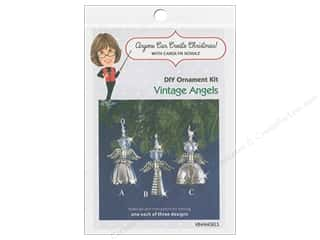 craft & hobbies: Solid Oak Kit Beaded Ornament Vintage Angels