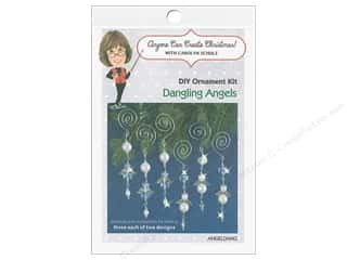 beading & jewelry making supplies: Solid Oak Kit Beaded Ornament Dangling Angels
