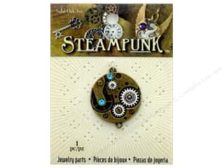 beading & jewelry making supplies: Solid Oak Pendant Steampunk Watch Movement 30mm