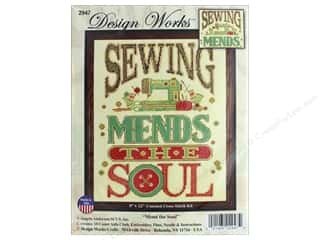"yarn & needlework: Design Works Cross Stitch Kit 9""x 12"" Mend The Soul"