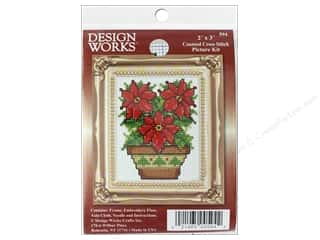 Clearance: Design Works Counted Cross Stitch Kit 2 x 3 in. Poinsettia