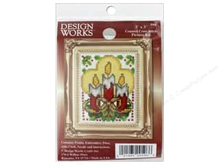 "yarn & needlework: Design Works Cross Stitch Kit 2""x 3"" Candles"