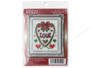 yarn & needlework: Design Works Counted Cross Stitch Kit 2 x 3 in. Love