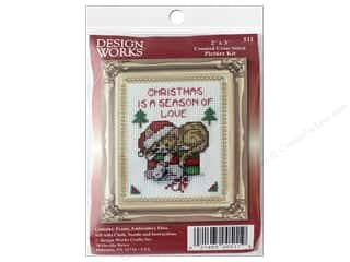 yarn & needlework: Design Works Counted Cross Stitch Kit 2 x 3 in. Season of Love
