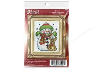 yarn & needlework: Design Works Counted Cross Stitch Kit 2 x 3 in. Snowman