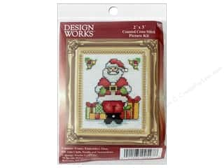 yarn & needlework: Design Works Counted Cross Stitch Kit 2 x 3 in. Santa