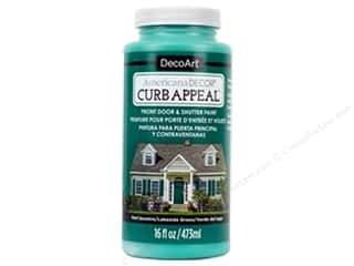 Clearance: DecoArt Americana Decor Curb Appeal Paint 16 oz. Lakeside Green