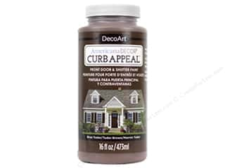 craft & hobbies: DecoArt Americana Decor Curb Appeal Paint 16 oz. Tudor Brown