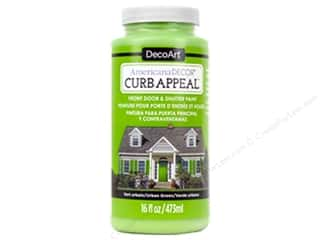 Clearance: DecoArt Americana Decor Curb Appeal Paint 16 oz. Urban Green