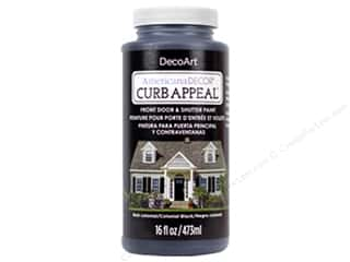 craft & hobbies: DecoArt Americana Decor Curb Appeal Paint 16 oz. Colonial Black