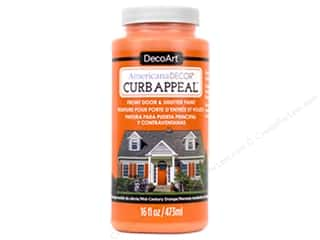 craft & hobbies: DecoArt Americana Decor Curb Appeal Paint 16 oz. Mid-Century Orange