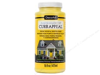 craft & hobbies: DecoArt Americana Decor Curb Appeal Paint 16 oz. Victorian Yellow