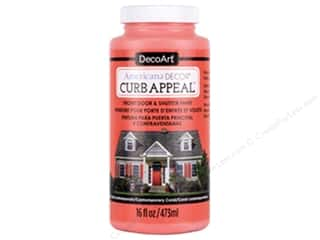 Sale: DecoArt Americana Decor Curb Appeal Paint 16 oz. Contemporary Coral