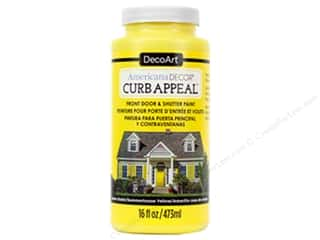 craft & hobbies: DecoArt Americana Decor Curb Appeal Paint 16 oz. Summerhouse Yellow