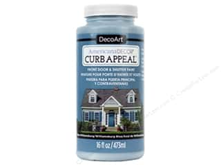 craft & hobbies: DecoArt Americana Decor Curb Appeal Paint 16 oz. Williamsburg Blue