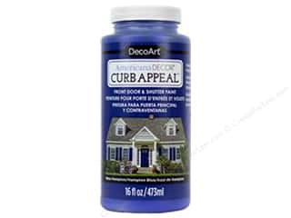 craft & hobbies: DecoArt Americana Decor Curb Appeal Paint 16 oz. Hampton Blue
