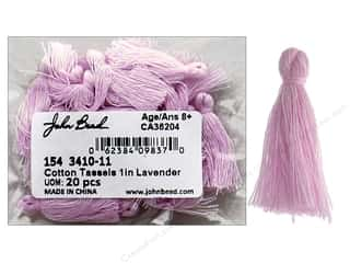 "John Bead Tassel 1"" Cotton Lavender 20pc"