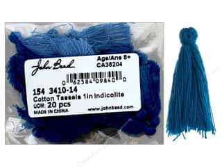 "John Bead Tassel 1"" Cotton Indicolite 20pc"